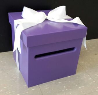 Purple Timber Wishing Well Gift Card Box HIRE Homebush Strathfield Area Preview