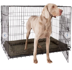 Larger dog cage doubles doors