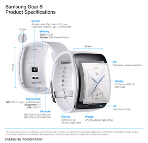 Unlocked Samsung Gear S smart watch