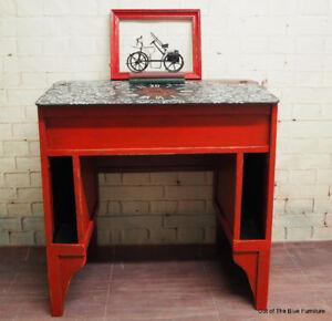 Antique steampunk cog & gear desk!