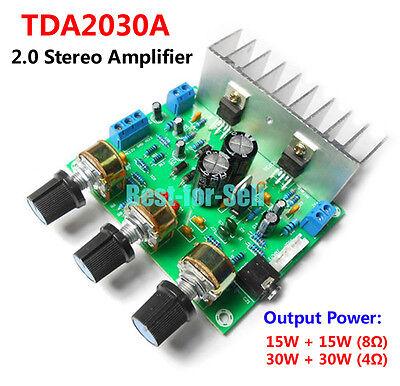 30w Audio Power Amplifier (TDA2030A 30W*2 HIFI 2.0 Stereo Audio Power Amplifier Board 15WX2 Treble/Bass Amp )