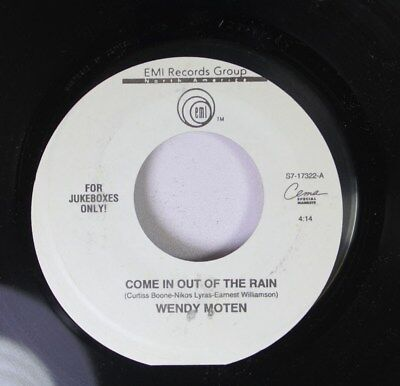Pop 45 Wendy Moten - Come In Out Of The Rain / A Matter Of Fact On Emi Records