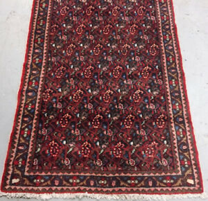 Vintage Handmade persian Rug,wool,9.10 x 3.7 ft,