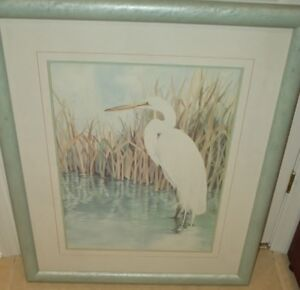 Limited Edition Print by Janet W. Brown of Great Heron
