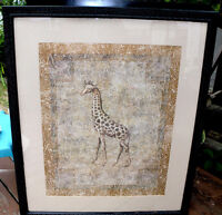 Very large glass frame print (Giraffe) 35 inches by 41 inches |