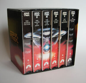 Star Trek Movies 1-6, Boxed Set, VHS Tapes