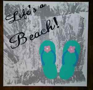 Life's a beach painting