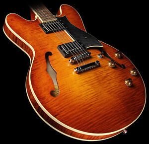 Heritage H-535 Semi-Hollow Electric Guitar Almond Sunburst
