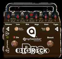 AMPTWEAKER BIG ROCK PRO PREAMP PEDAL W DISTORTION BOOST AND OD