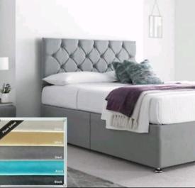 🇬🇧BED OUTLET SALE.NEW QUALITY PLUSH DIVAN BED SETS ALL SIZES COLOURS