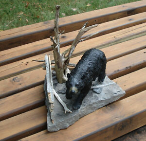 3-D Hand Crafted Black Bear Table Sculpture Kingston Kingston Area image 4