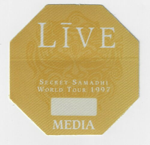 LIVE - SECRET SAMADHI TOUR 1997 / Unused OTTO Satin Cloth MEDIA Backstage Pass