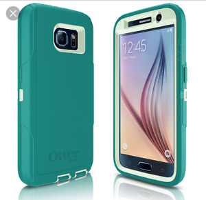 Samsung S6 with Otterbox & tempered glass