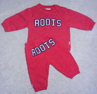 Roots 2-Piece Red Track Suit Outfit (6-12M)