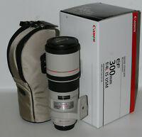 canon EF 300 f4 IS L USM telephoto lens in box
