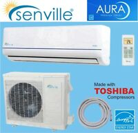 12000 BTU Mini Split A/C- heat pump inverter SEER 22!
