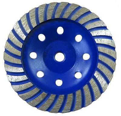 Topfscheibe Diamant-Schleiftopf Schleifteller Betonschleifer Turbo 125mm x M14