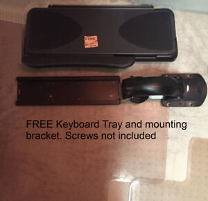 FREE Keyboard Tray and mounting bracket. Screws not included