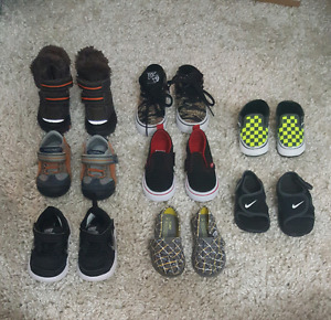 Various boys toddler shoes size 4