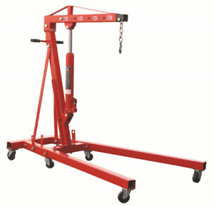 Big Red foldable engine hoist shop crane cherry picker 2ton