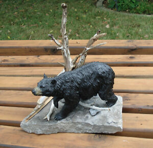 3-D Hand Crafted Black Bear Table Sculpture Belleville Belleville Area image 2