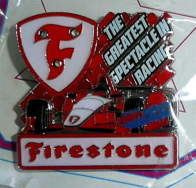 Firestone Indy 500 Indianapolis Collector Lapel Pin  Lights Up Blinkie   New