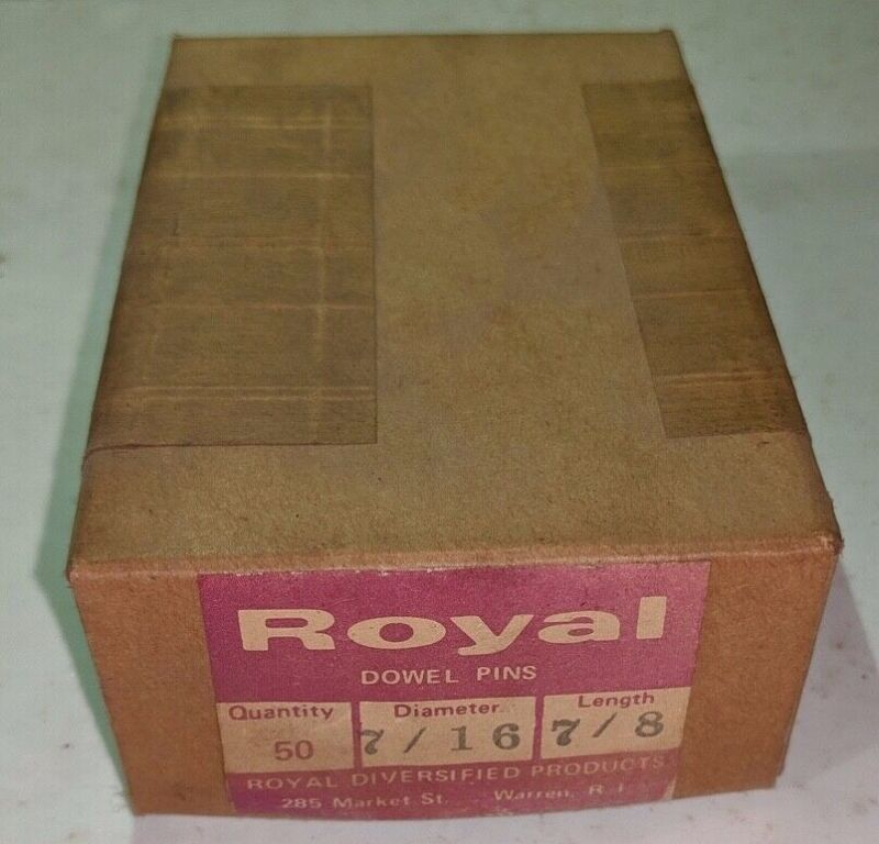 """Pack of 50 - 7/16"""" x 7/8"""" Royal Dowel Pins Alloy Steel"""