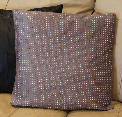 Stunning Stud Designer Pillow Cover By K and K 18X18 Decorat