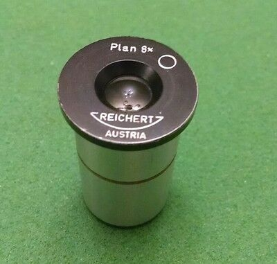 Reichert Austria Microscope Eyepiece Plan 8x Rms Mount Works