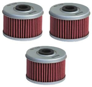 K-N-3-Pack-Oil-Filters-Honda-TRX350TM-FourTrax-Rancher-2004-2005-2006