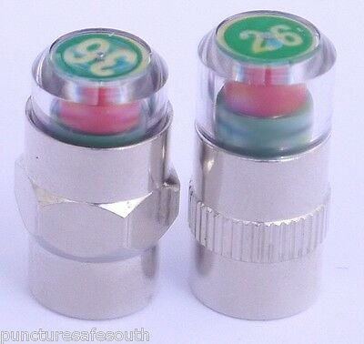 Tyre Pressure Monitor Valve Cap System sizes 26 - 70 psi Cars, Bikes, Trucks ETC