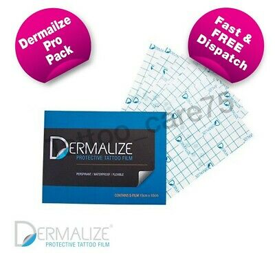 Dermalize Pro Tattoo Aftercare Cover Up Film, Saniderm - 5 pack -...