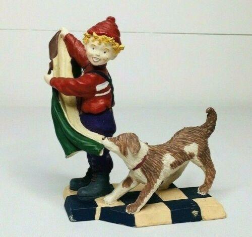 Dept 56 Nicholas Hanging Coat Figurine Boy And Dog*