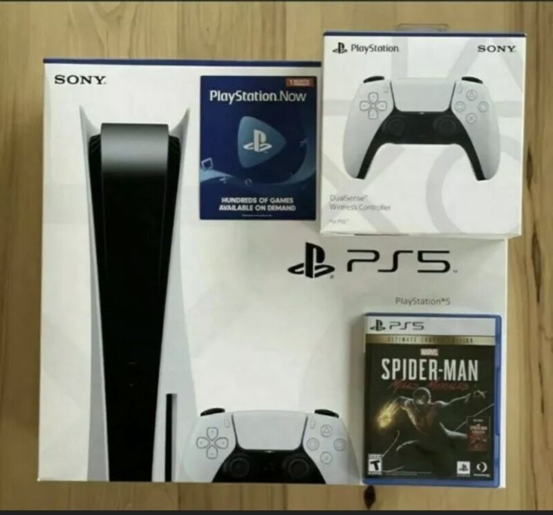 New Sony PlayStation 5 Disc Console BUNDLE BRAND NEW IN HAND SHIPS NOW