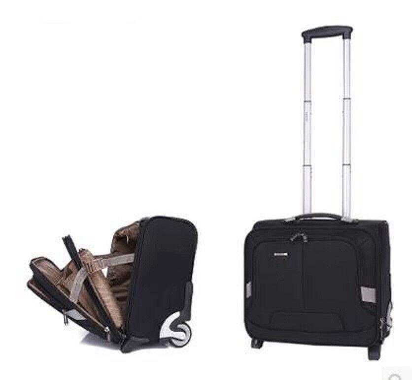 Trolley Luggage Bag School Rolling Wheels Travel Oxford Lapt