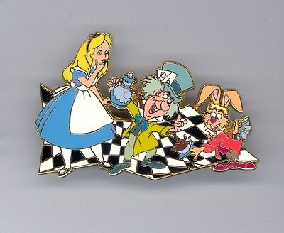 Disney Auctions 55th Alice in Wonderland Tea Time Mad Hatter March Hare 100 Pin