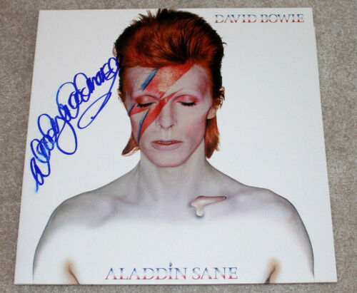 WOODY WOODMANSEY SIGNED DAVID BOWIE ALADDIN SANE RECORD ALBUM LP COA DRUMMER