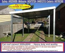 New  flat roof carport  3  x  6   $820  or  3 x  9   $  1250 Prestons Liverpool Area Preview