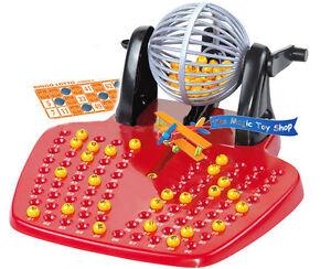 Bingo Lotto Traditional Family Game Play Set 90 Balls