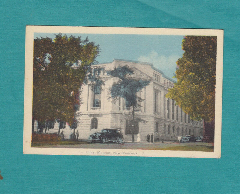 Post Office Moncton New Brunswick Canada Vintage Post Card Postcard  Color