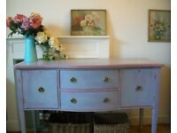 Painted Vintage Georgian Regency Reproduction Wooden Sideboard