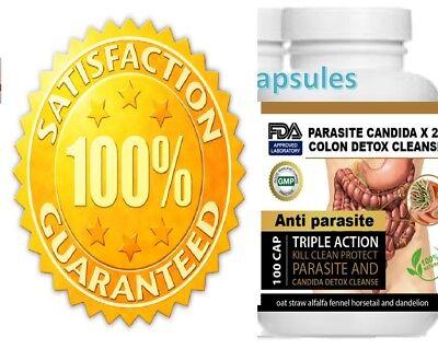 Parasite Cleanse DETOX Liver Colon Yeast Blood KILL Killer vital 200 Cap XL cure 1