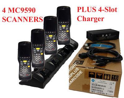 Lot Zebra Motorola Mc9590 Wireless Barcode Scanner 1d 2d Crd9500 Cradle Charger