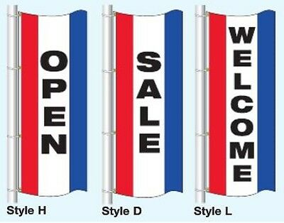 Opensalewelcome Free Flying Vertical Flag 3ftx8ft Tricolor
