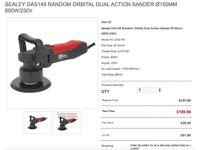 SEALEY DAS149 RANDOM ORBITAL DUAL ACTION SANDER Ø150MM 600W/230V