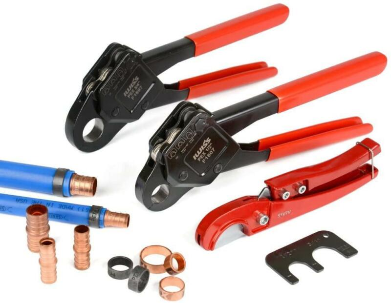 IWISS Combo Angle Head PEX Pipe Crimping Tool Kits Used for
