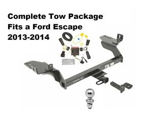 complete tow package for ford escape 2013 2014 ebay. Black Bedroom Furniture Sets. Home Design Ideas