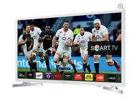 "32"" White SAMSUNG Smart full HD internet LED TV UE32J4510 warranty and delivered boxed"
