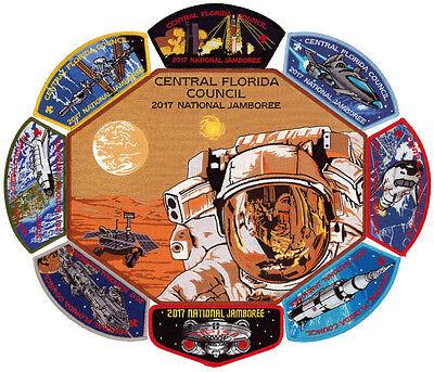 2017 Scout Jamboree Central Florida Council Patch Set OA Tipisa Lodge 326 Flap