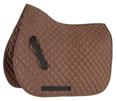 Shires Equestrian Wessex All Purpose Saddle Pad, Brown - Cob/Full Size